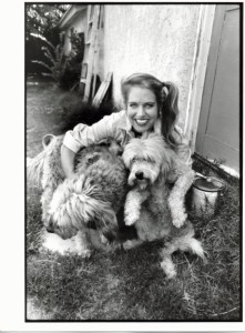 Charlotte Laws with her dogs